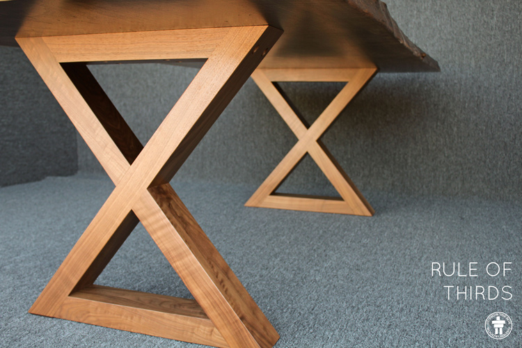 Custom Walnut dining table Seattle