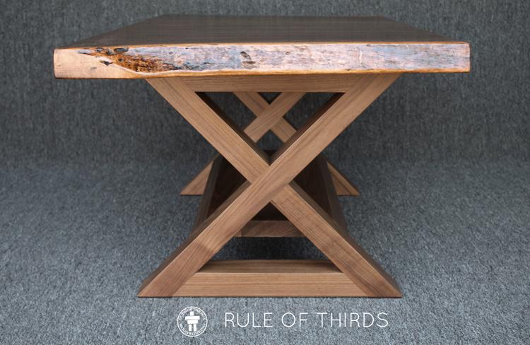 Live edge slab Walnut coffee table