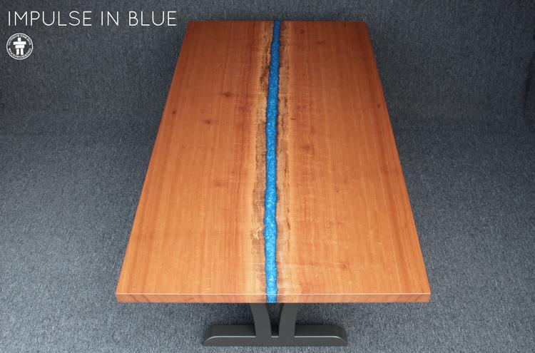 Live edge custom river table