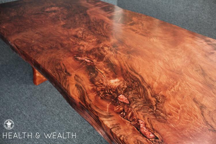 Redwood slab dining table Seattle