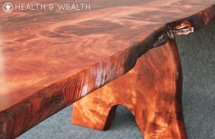 Live edge custom dining table