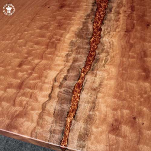 Custom epoxy resin river table