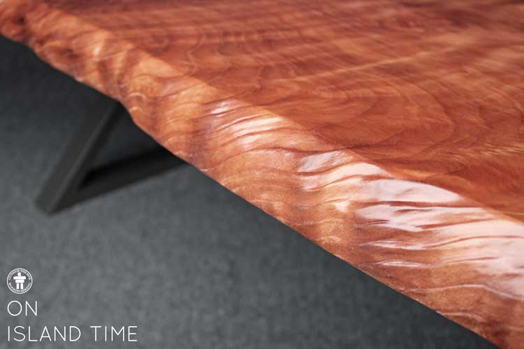 Natural edge slab table top