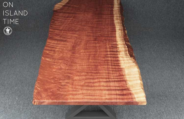 Custom Redwood dining table