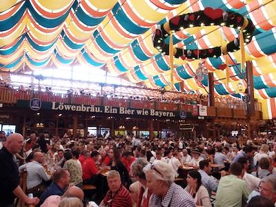 Inside Schützen Festzelt