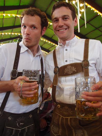 Proper beer holding form.