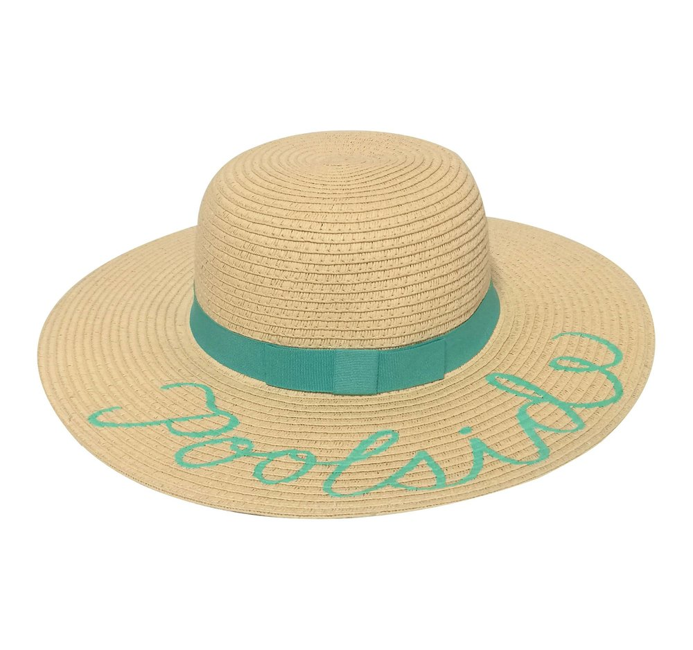 STATEMENT SUN HATS - LET'S STAY BY THE POOLSIDE HAT