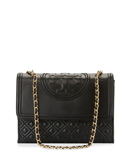 BLACK CLUTCH/BAG  - TORY BURCH FLEMING CROSSBODY