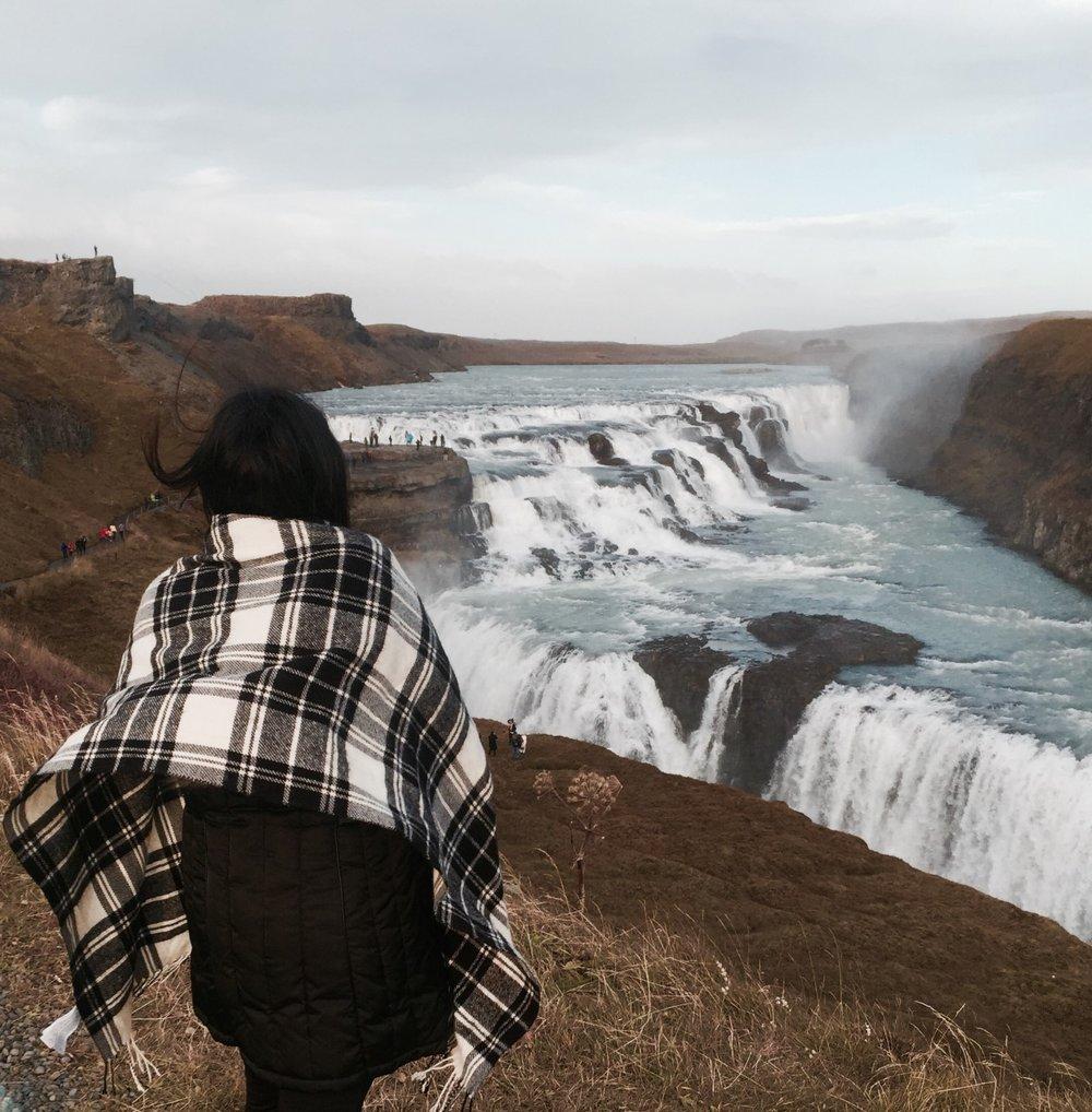 GULFOSS WATERFALL - Iceland's most famous waterfall.