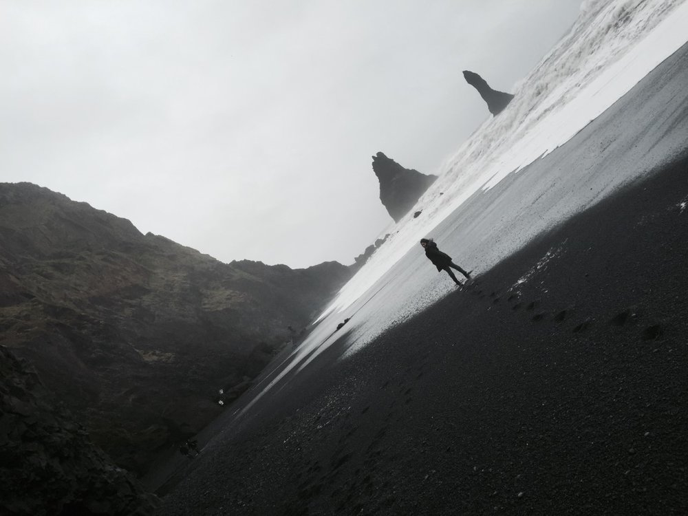 REYNISFJARA-BLACK SAND BEACH  - The most dangerous yet the most surreal beach.