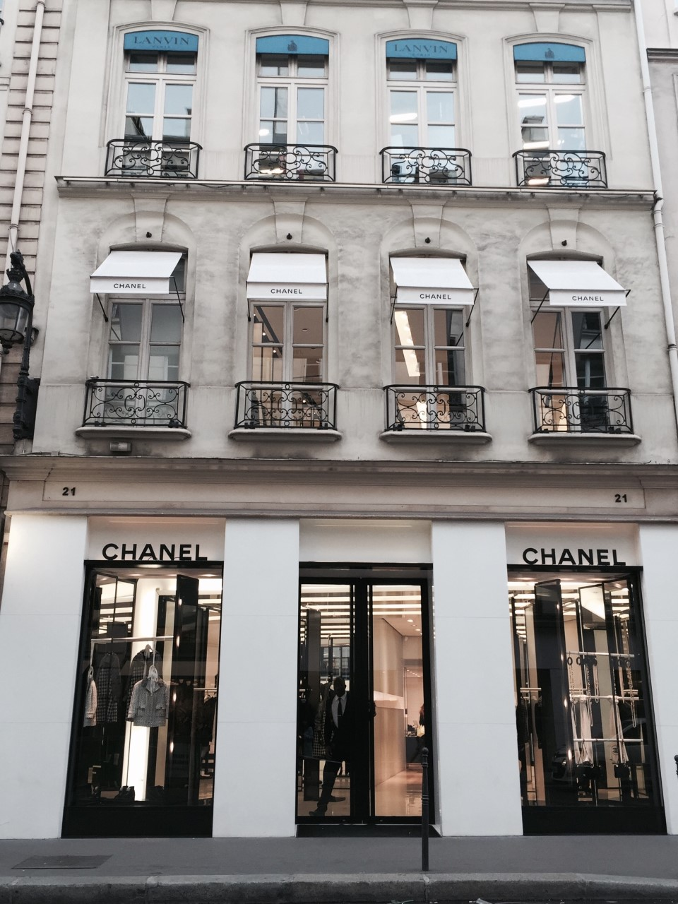 AVENUE MONTAIGNE  - The most famous luxury fashion shopping street.