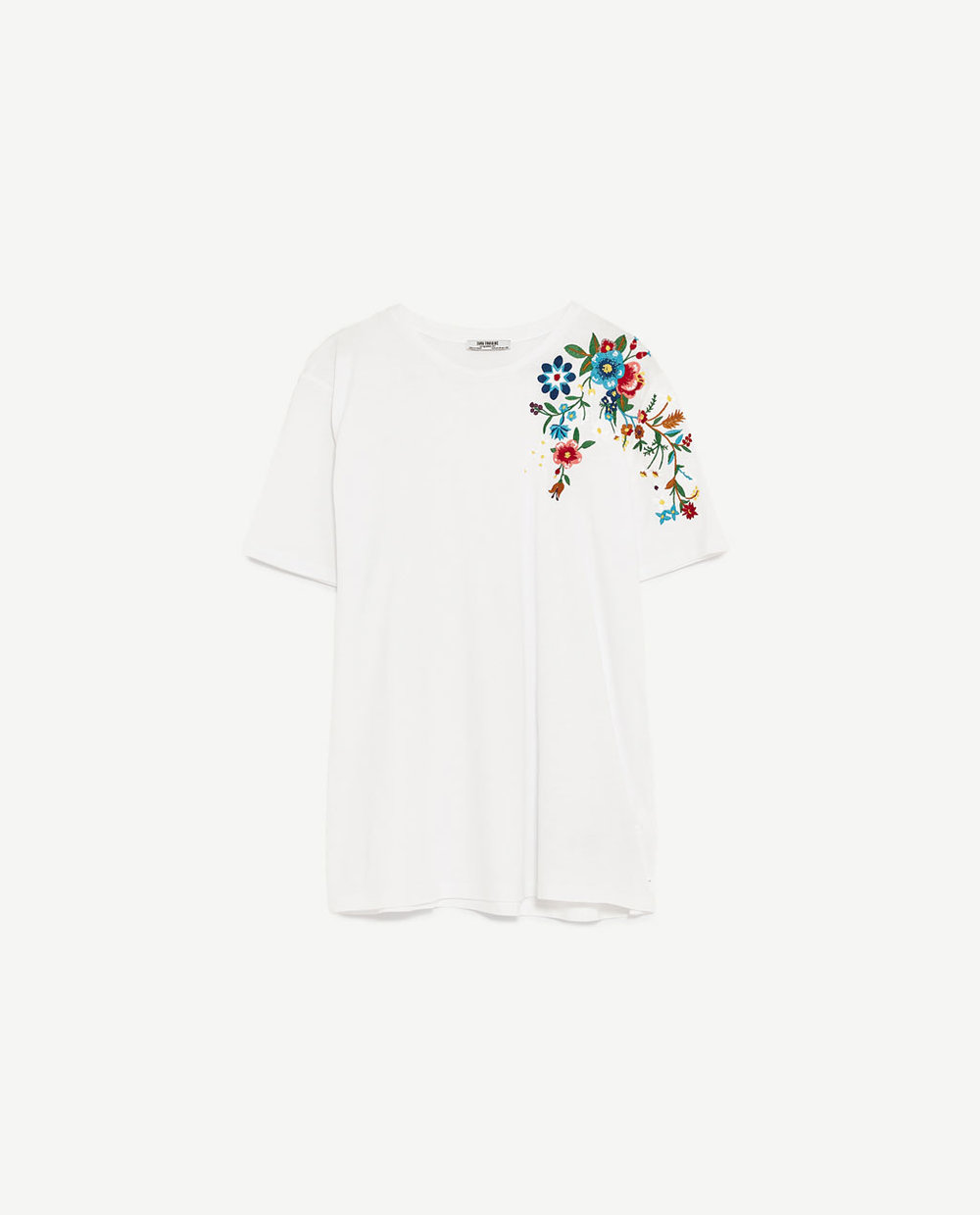 t-shirt with embroidery detail