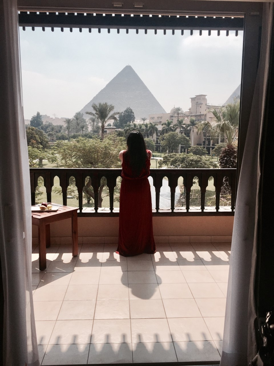 MENA HOUSE HOTEL -  A view of the Pyramids from your balcony or while having a lavish Egpytian breakfast.