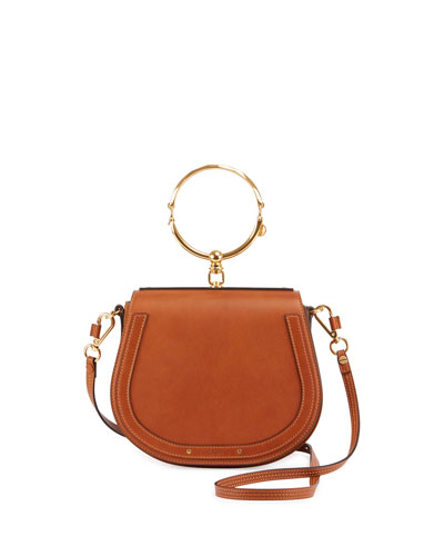 chloe nile leather saddle bag