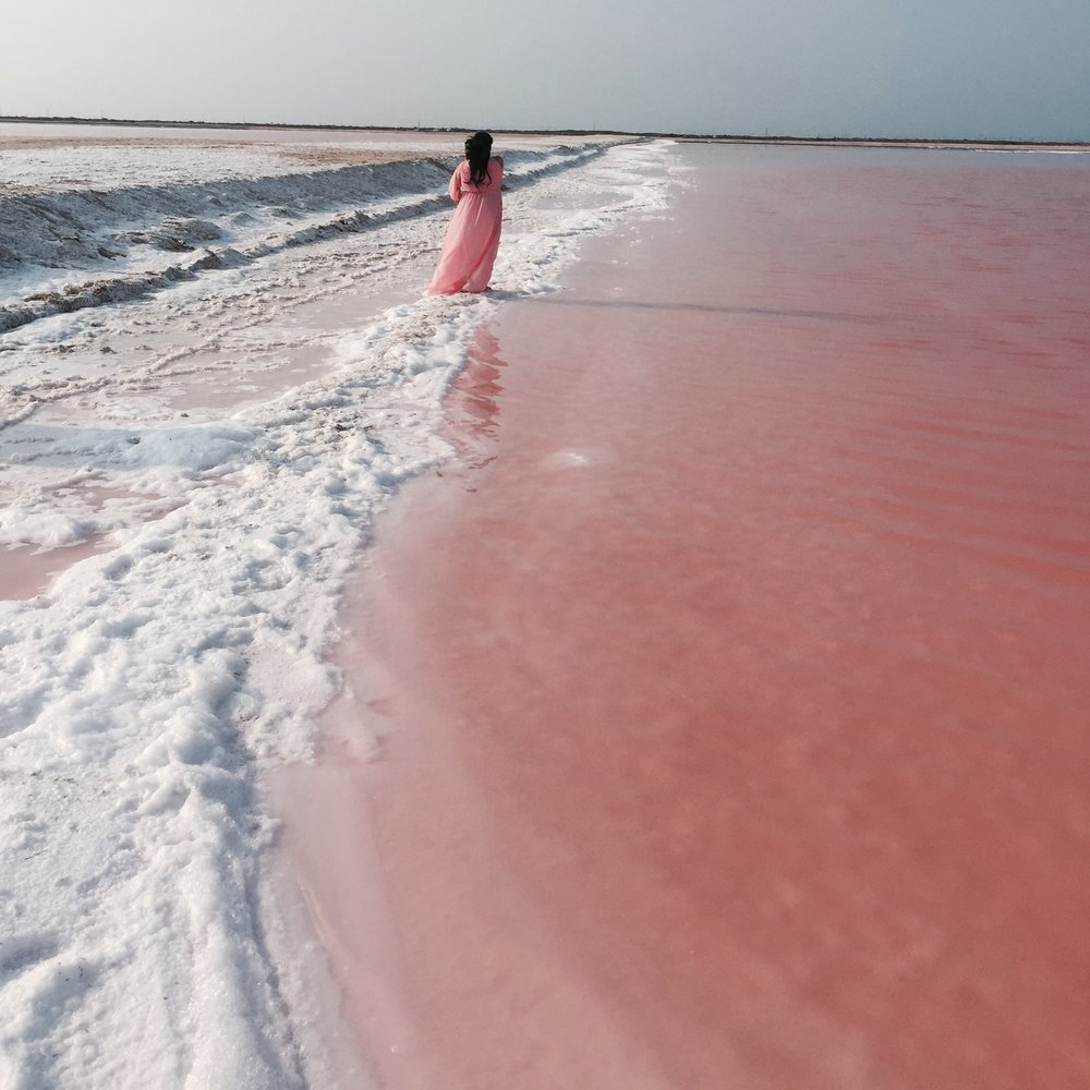 LAS COLORADAS  - Cotton-candy pink lakes filled with salt. Unreal. This was my ultimate favourite thing about our trip, {besides an awesome picture my husband took within 10 minutes of getting there} this place was insanely beautiful! It is super pretty to look at, but not somewhere you want to swim in, since the vibrant glimmering pink color is due to red-colored algae, plankton, and brine shrimp that thrive in salty environment. Oh, and it had an awful odor too, but it was breathtakingly pretty and that itself was enough!