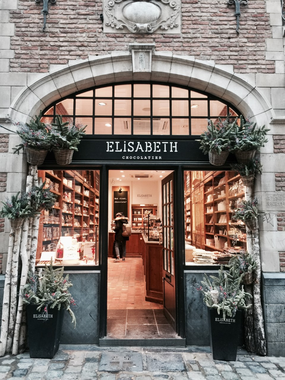 ELISABETH CHOCOLATIER  - Elisabeth is an independent boutique in Brussels that collects Belgium's best artisanal sweets.It doesn't hurt that the storefront is just so cute too!
