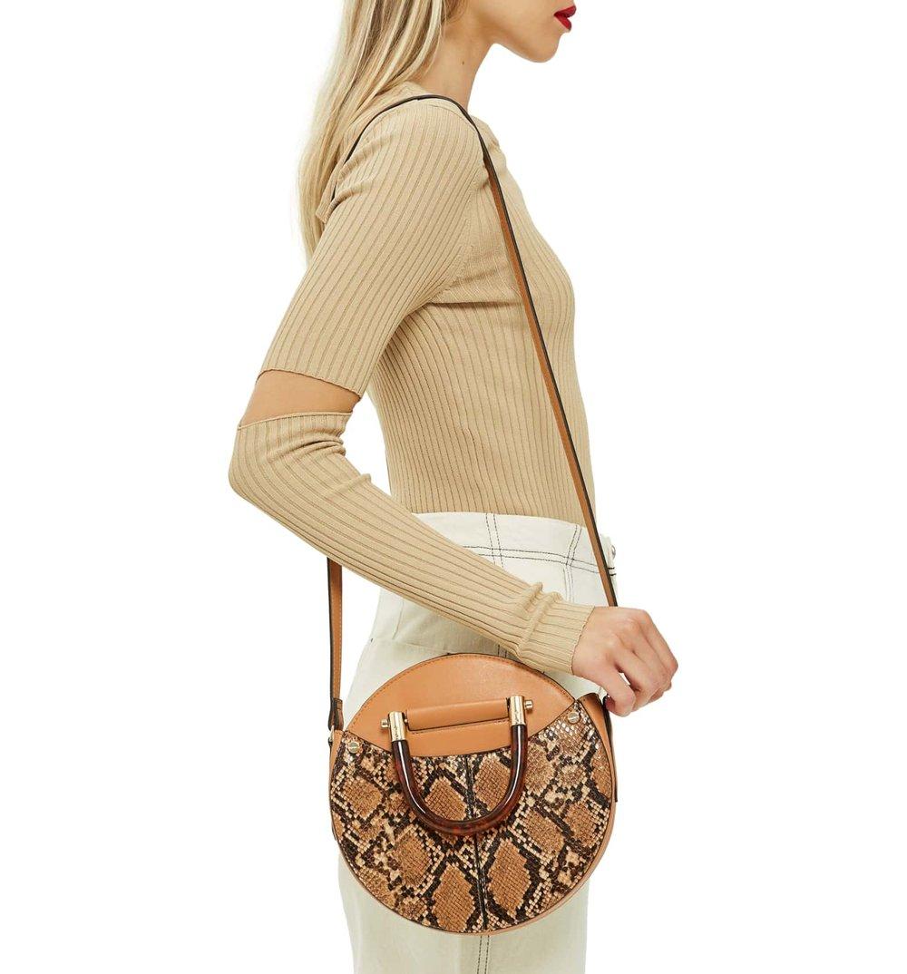 TORTOISESHELL HANDLE BAG