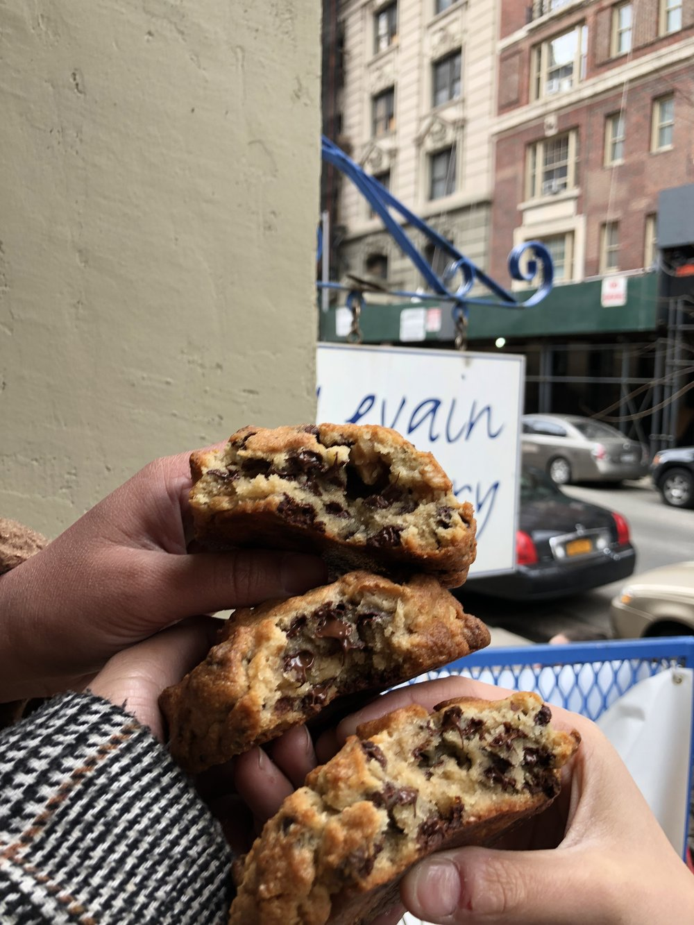 "LEVAIN BAKERY - If you love cookies and you don't mind waiting in line for an hour or two for some ooey gooey cookies, and ""the best cookies in NY"" this is your place.P.S Wrap up warm, wear some comfy footwear and grab your favourite partners in crime to make the time go faster!"