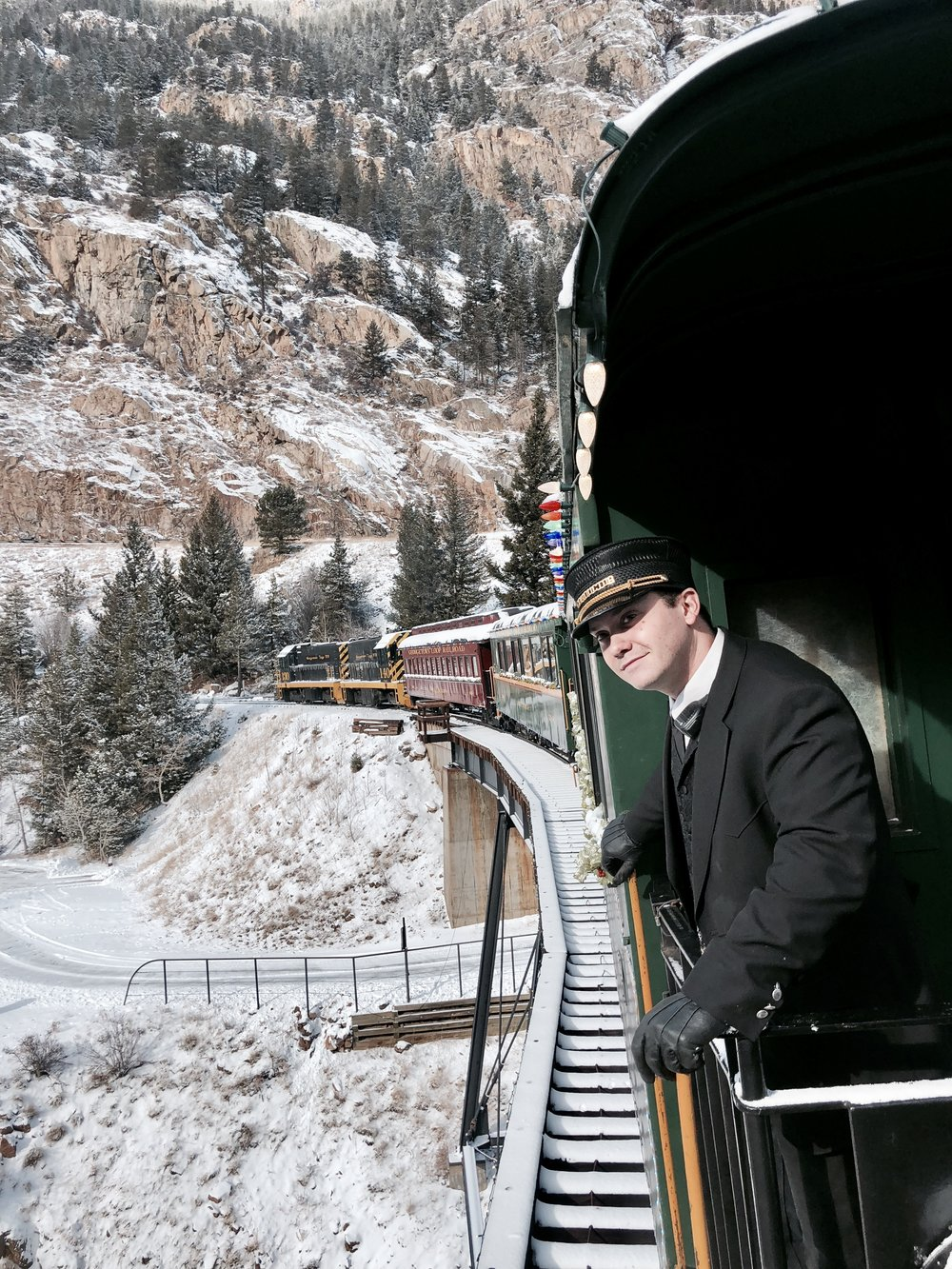 GEORGETOWN LOOP RAILROAD - The Georgetown loop railroad was a winter dream, the polar express train riding through a snow topped winter wonderland while sipping on hot cocoa and of course a surprise visit from Santa!Make sure to book your tickets in advance for the winter as it can booked out very quickly.https://www.georgetownlooprr.com/
