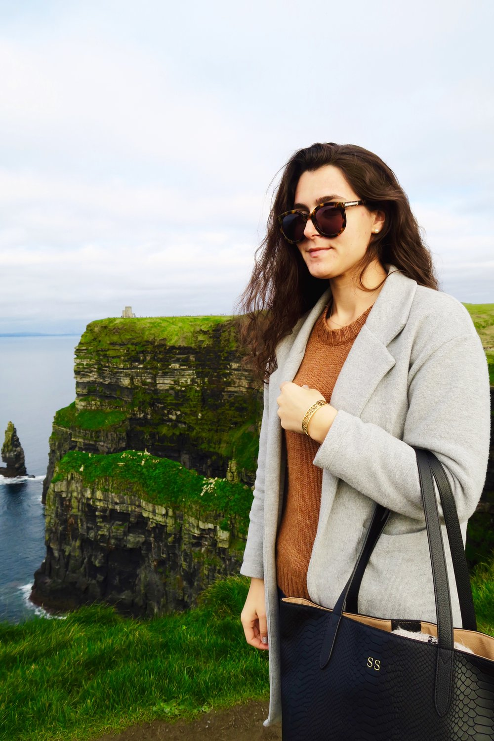 Cliffs of Moher, 11.02.17   Get the details on everything I wore to my fifth Cliffs of Moher trip! Also, do you spot the initials on my bag?!  Shop here!