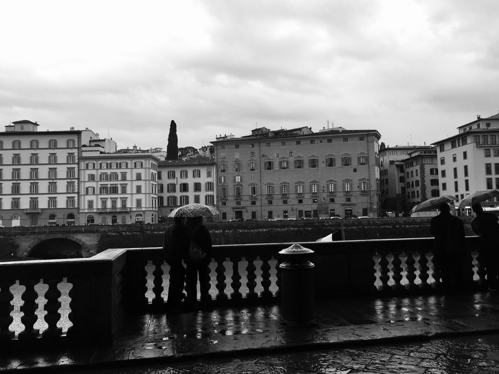 Rainy days at the Arno River