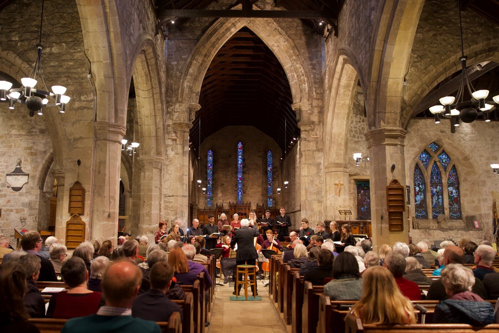 The Bishop Consort's one-per-part  St Matthew Passion  at St Andrew's Church, Corbridge   (April 2019)  Photographed by Ian Wylie