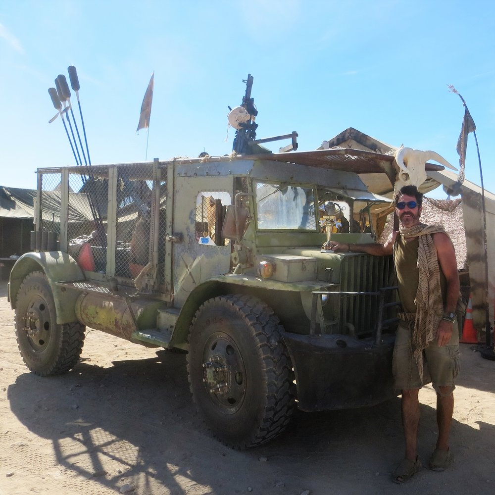 "Award winning Post-Apocalyptic ""Slaver truck"", ""Meli"" a  highly modified 1943 Burma Jeep."