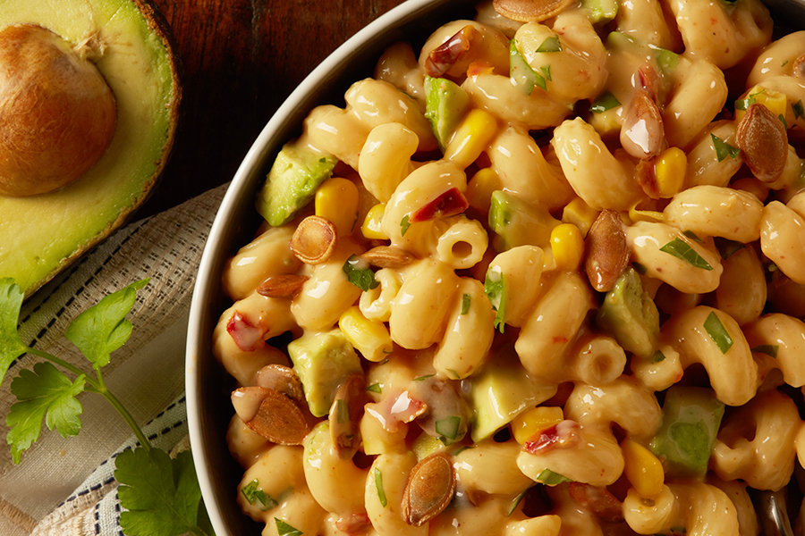 Bear Creek Mac and Cheese with Avocado and Pumpkin Seeds