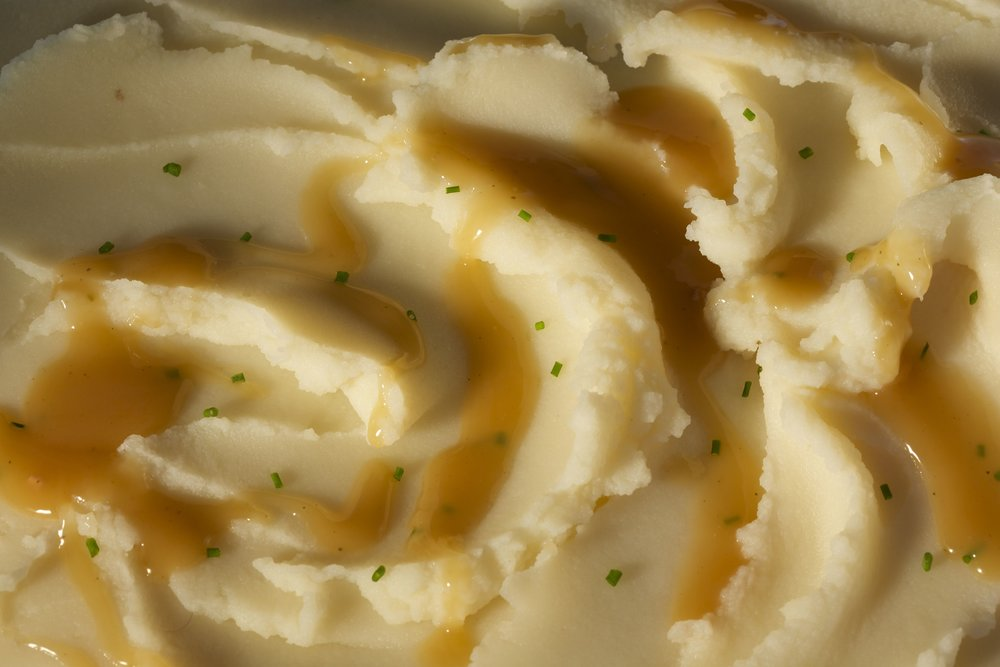 Mashed Potatoes and Gravy Bas Relief