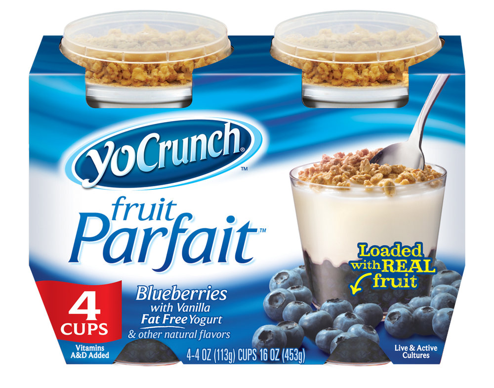 YoCrunch Blueberry Fruit Parfait Fat Free Yogurt