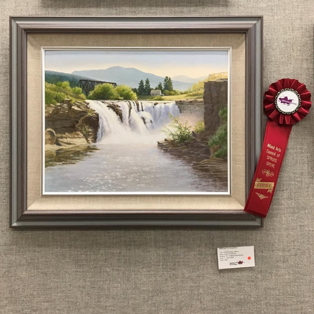 Lundbreck Falls, Alberta by Brigitte Reikmann -Intermediate Category