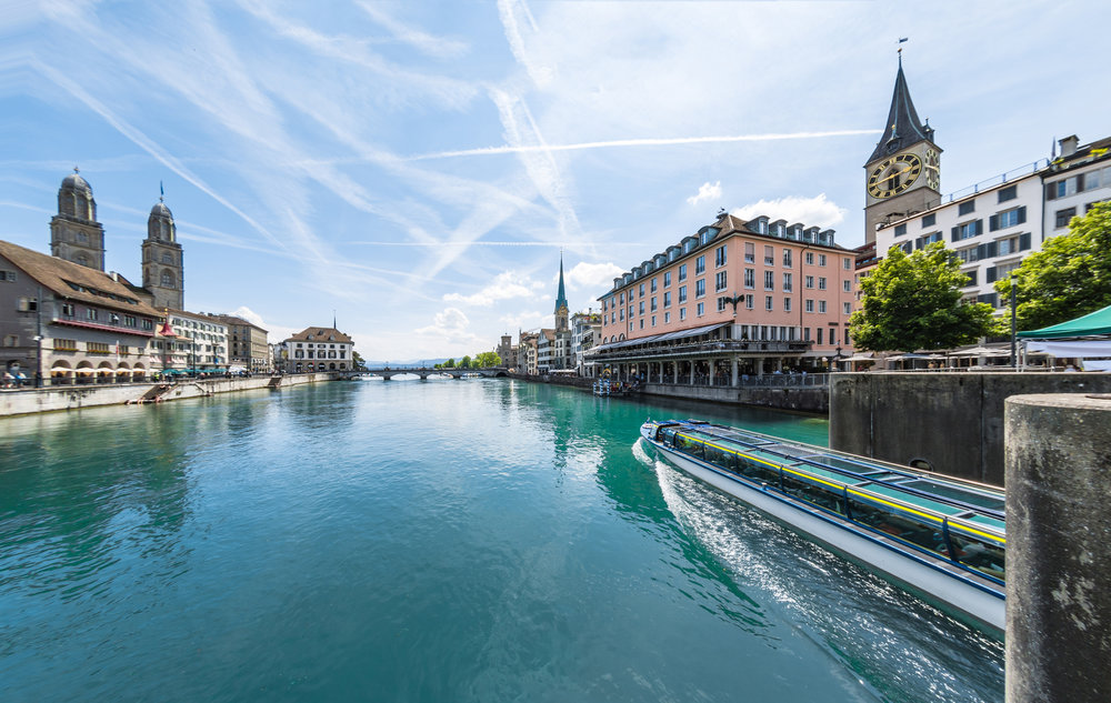 Limmat river cruise boat