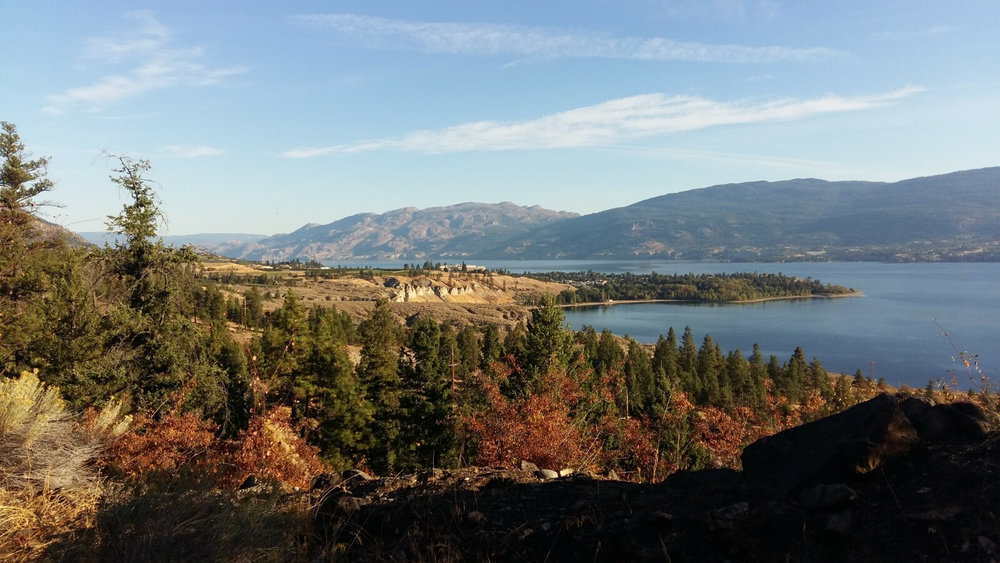 Looking North over Lake Okanagan approaching Summerland.