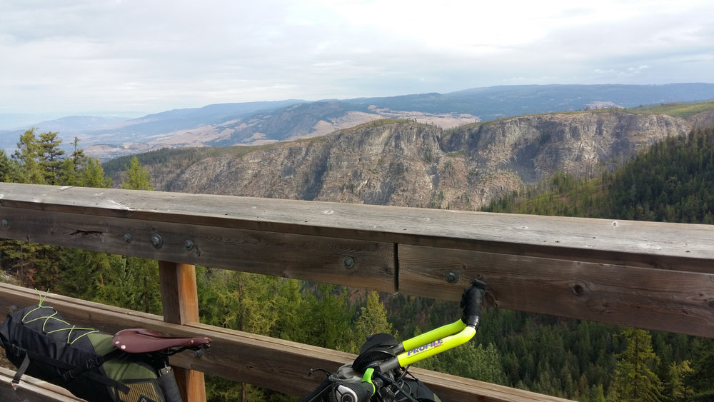 View from trestle in Myra Canyon