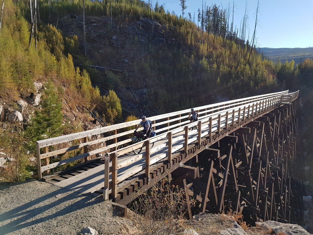 Eastern Kettle Valley Railway    538 km point-to-point from Kelowna to Kimberley, BC  Mapped by Guy Stuart