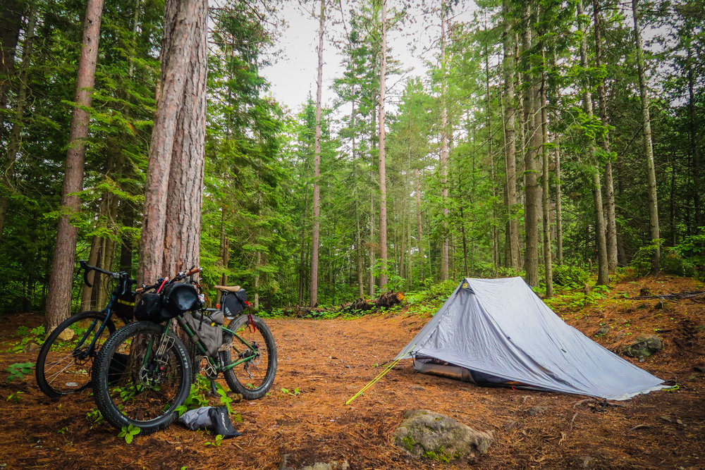 Free Crown land campsites are abundant along most of the route. Remember to leave no trace.