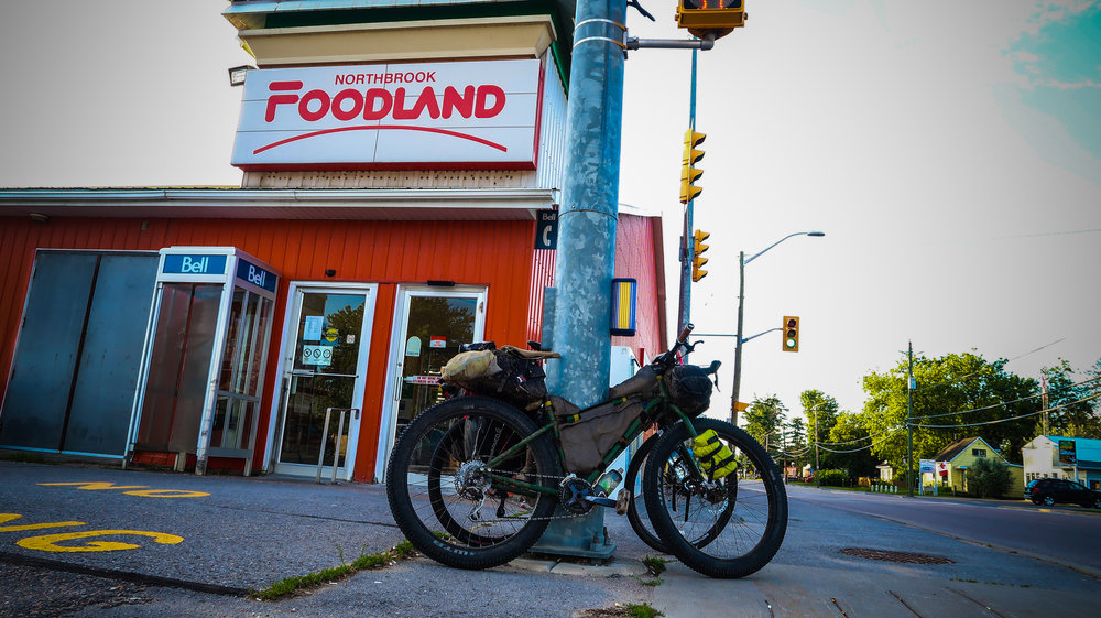 The 24 hour Foodland in Northbrook is an unexpected treat - and one of the only resupply possibilities along the route.