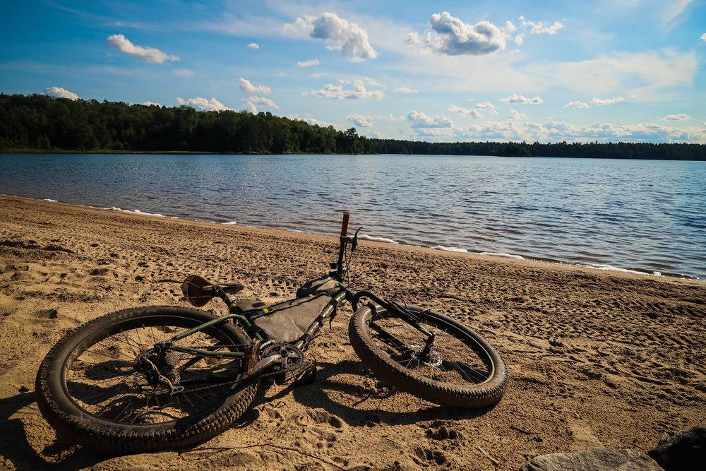 The beach at Merrill Lake may be worth it.