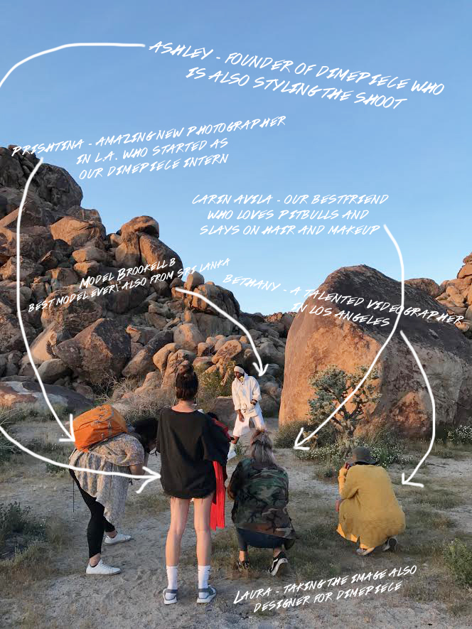 Behind the scenes of our lookbook collection. Our team hard at work by the Joshua tree national park.