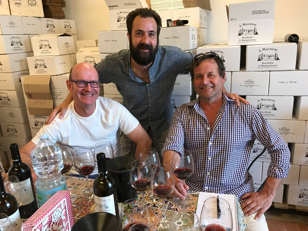 chris and richard with simone at il macchione