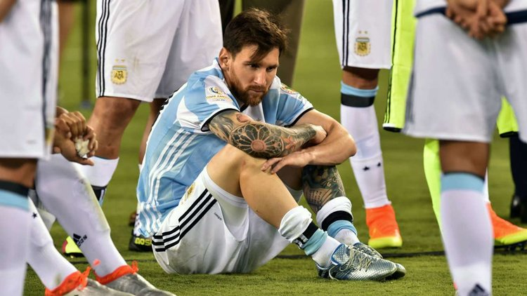 MESSI I SEEMS A LITTLE UPSET