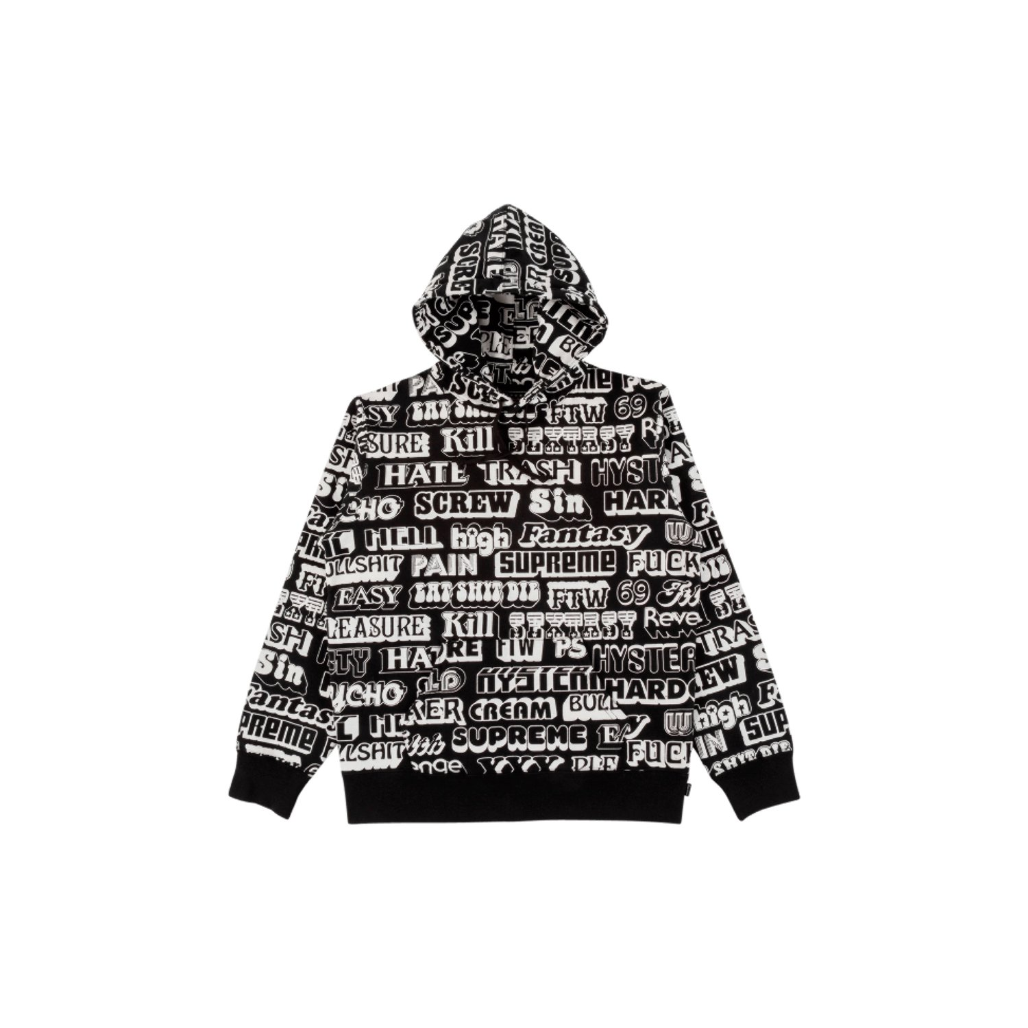 add24c1dba18 Supreme x Hysteric Glamour Text Hoodie