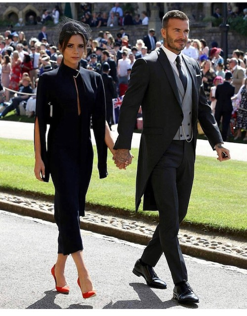 David Beckham Royal Wedding Outfit