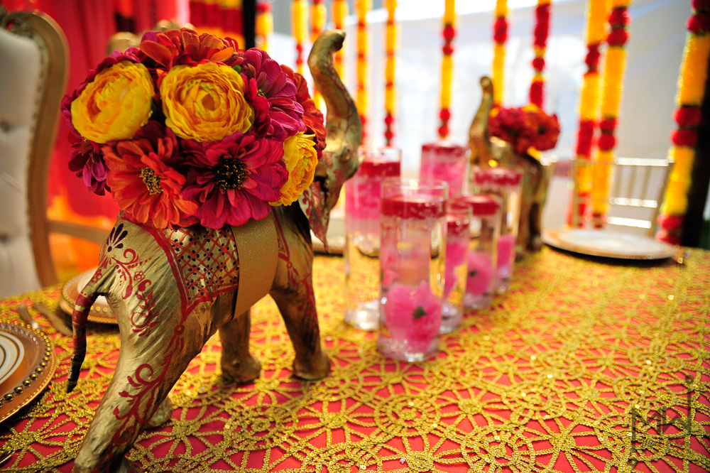 The elephants were hand painted by  Annapolis Henna, Annapolis Maryland.