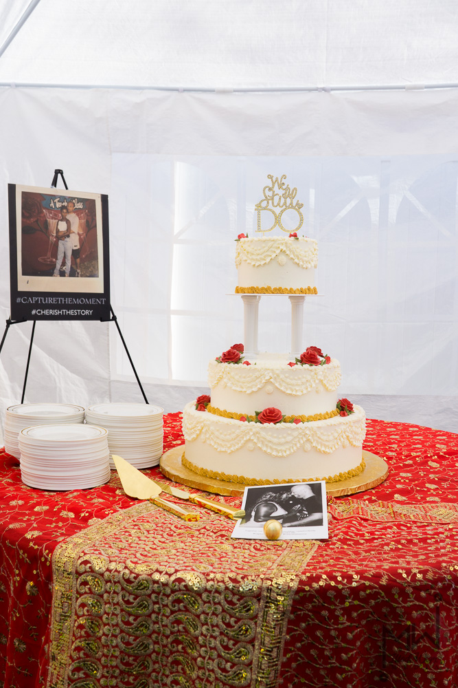 Amazing 3 tiered tres leches wedding cake from Tiffany's Bakery in Falls Church, VA