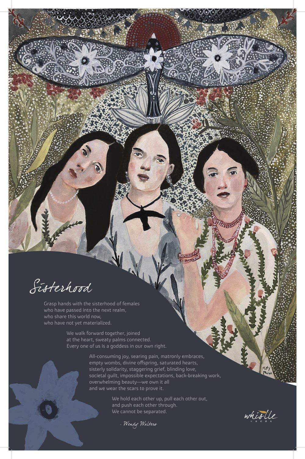11x17 4-color Poster on 100lb cover stock: SISTERHOOD