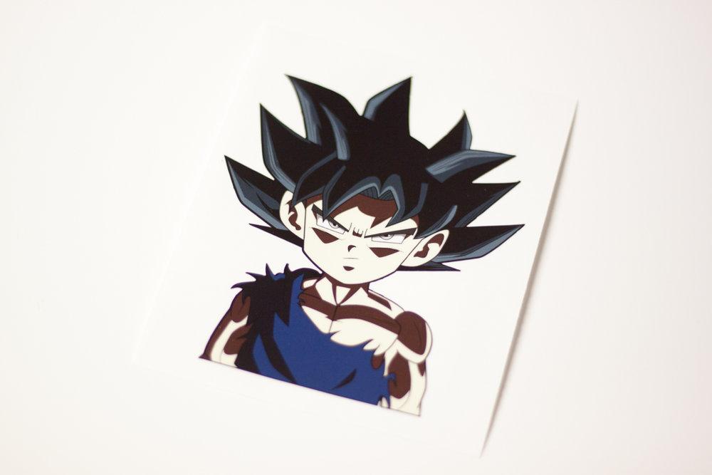 ultra instinct goku sticker