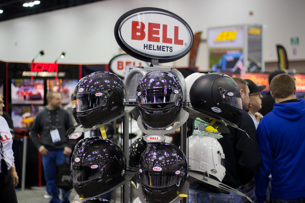 Bell Helmets showcasing their SA2015 lineup.
