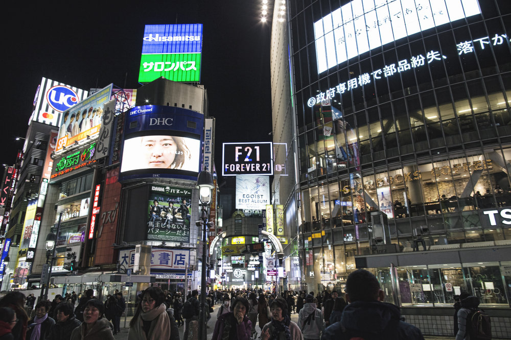 Shibuya Crossing is a timeless spot to visit when in Japan. This answer to NYC's Times Square is packed with people.