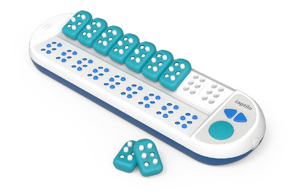 Taptilo   - The first commercialized product by OHFA TECH is the device to help teach and learn braille for the beginners.  With Taptilo, the teachers for BVI can teach many more students in a relatively short period of the time.  Also anyone who does not know braille can help teach BVI people and BVI people can learn braille by themselves with Taptilo.  OHFA TECH believes Taptilo will contribute to promote braille literacy.